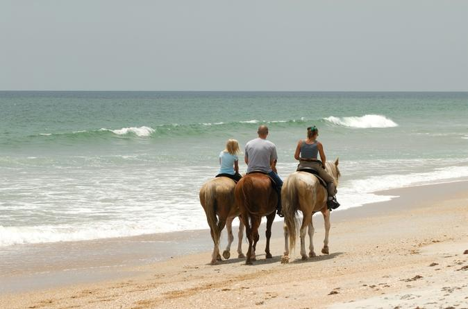 tourists on a horseback riding tour in Negril