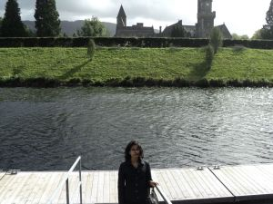 Ashwina with Fort Augustus Abbey in the background
