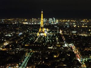 View of the Eiffel, this was taken from the 59th floor of Montparnasse Tower