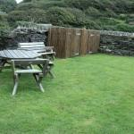 Outside garden shared with the other two National Trust cottages