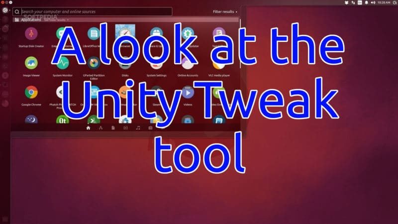 A look at the Unity Tweak Tool