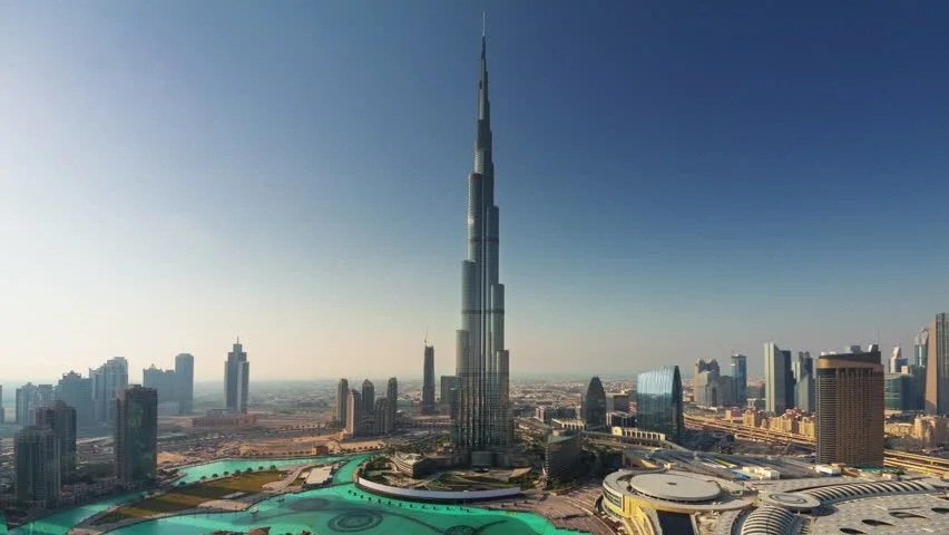 Sunset City Roof Top Hotel World Highest Building Panorama 4k Time Lapse Uae Stock Footage Video ...