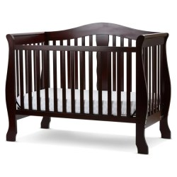 L a Baby Avalon 4 in 1 Convertible Crib With Foam Mattress Free