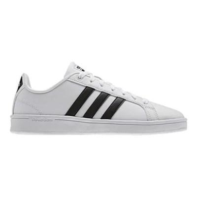 Shop Women's adidas NEO Cloudfoam Advantage Stripe Court Shoe FTWR White/Core Black/FTWR White ...