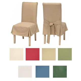 classic cotton duck dining chair slipcovers set of 2 furniture covers for chairs
