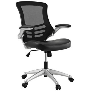 N Clay Alder Home Williamsburg Modway Attainment Black Mesh Back And  Leatherette Seat Office Chair