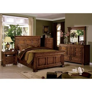 preparing traditional bedroom furniture setting. plain preparing traditional bedroom furniture setting of america claresse tobacco oak panel set f