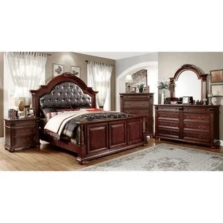 Furniture Of America Angelica English Style Brown Cherry 4piece Bedroom Set  Overstock