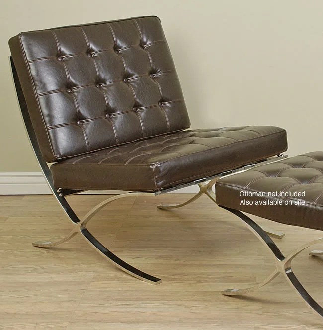 Overstockcom Barcelona Style Dark Brown Chair