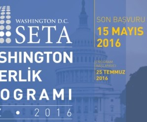 SETA Washington 2016 Burslu Staj Programı