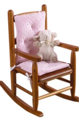 Baby-Doll-Bedding-Heavenly-Soft-Child-Rocking-Chair-Cushion-Pad-Set-PinkChair-is-not-included-with-the-product-0