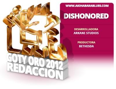Dishonored, GOTY 2012 de la Redacción AKB