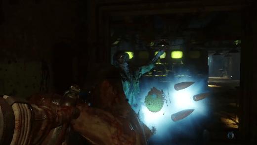 Aquí vemos como tras matar a un par de zombies uno de ellos a dejado una War Machina pero el otro a dejado una bola con pinchos. ¿Podria ser una semilla o alimento para las plantas carnívoras?