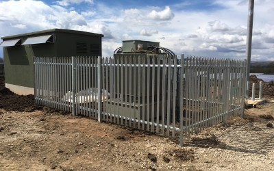 Akita Fencing securing solar farm inverter stations
