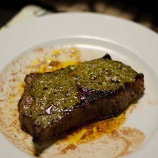 Grilled Steak with Cafe de Paris Butter