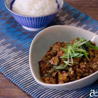 stir fried pork and eggplant