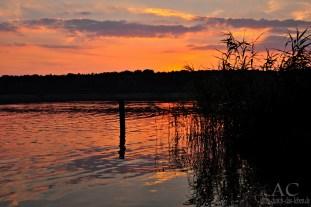 Der Ruppiner See bei Abendrot