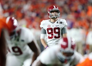Crimson Tide kicker Adam Griffith came up big for his team in the championship game. (Kent Gidley/UA Athletics)