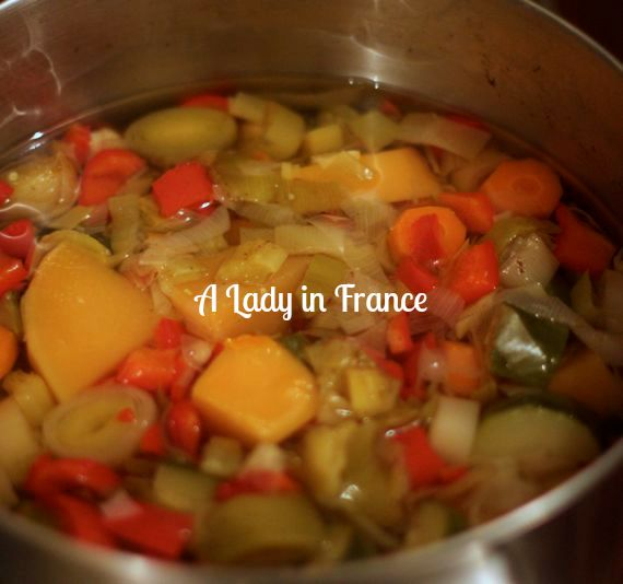 vegetable soup purée