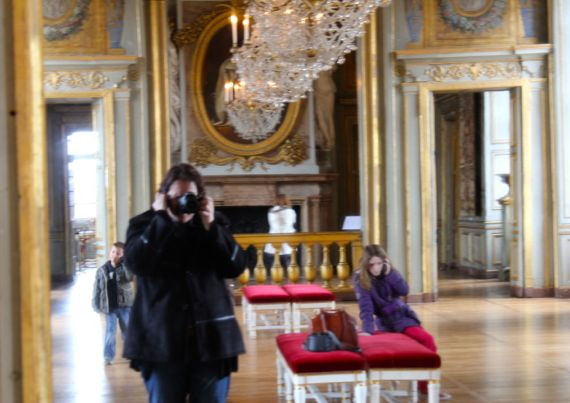 A wall of mirrors, similar to the one Mansard's nephew built some years later for the Chateau of Versailles.