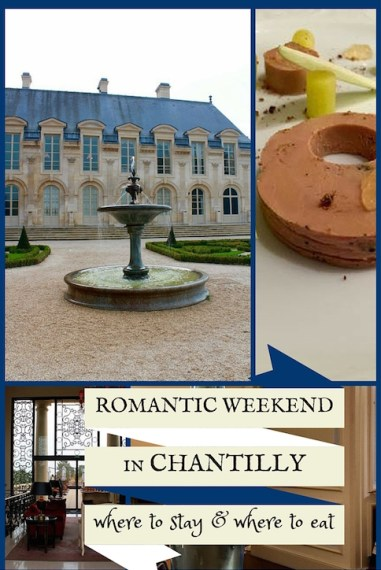 Chantilly is only a half-hour from Charles de Gaulle airport - a perfect distance for a quick romantic weekend getaway.