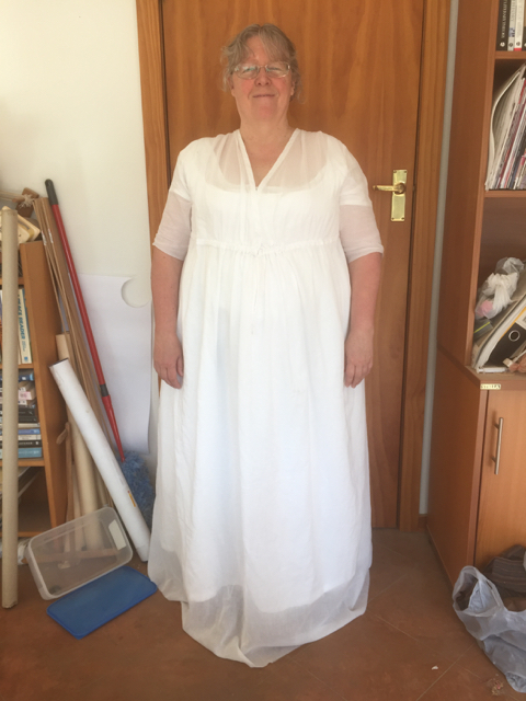 Regency muslin gown - front view