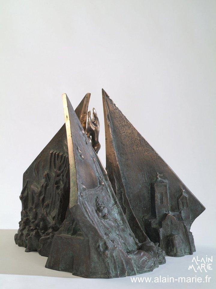 DANTE Europeo, bronze h35x40x40 cm