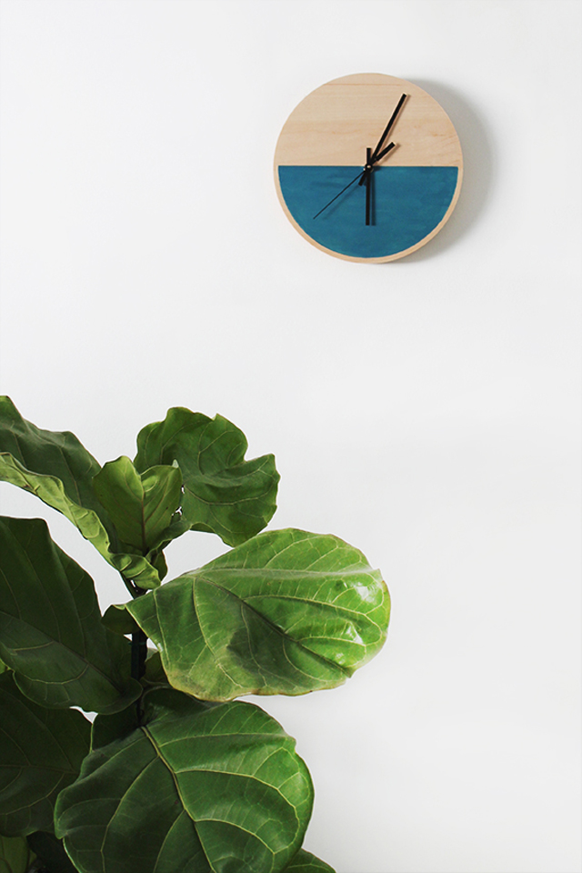 diy-color-block-clock