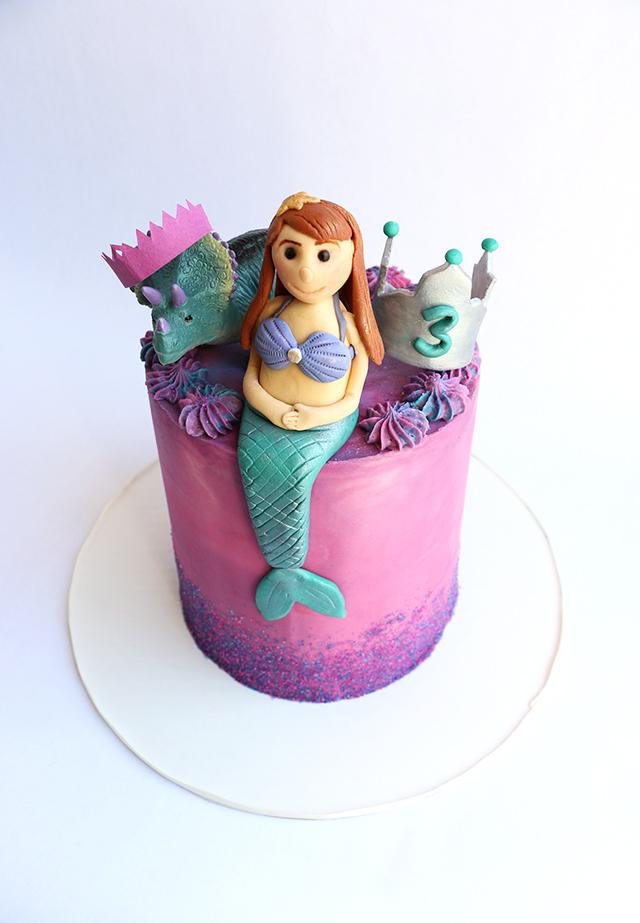 Mermaid Cake Detail