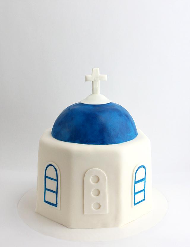Greece Dome Cake 2