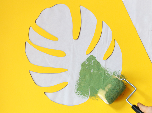 Painting Philodendron Stencil