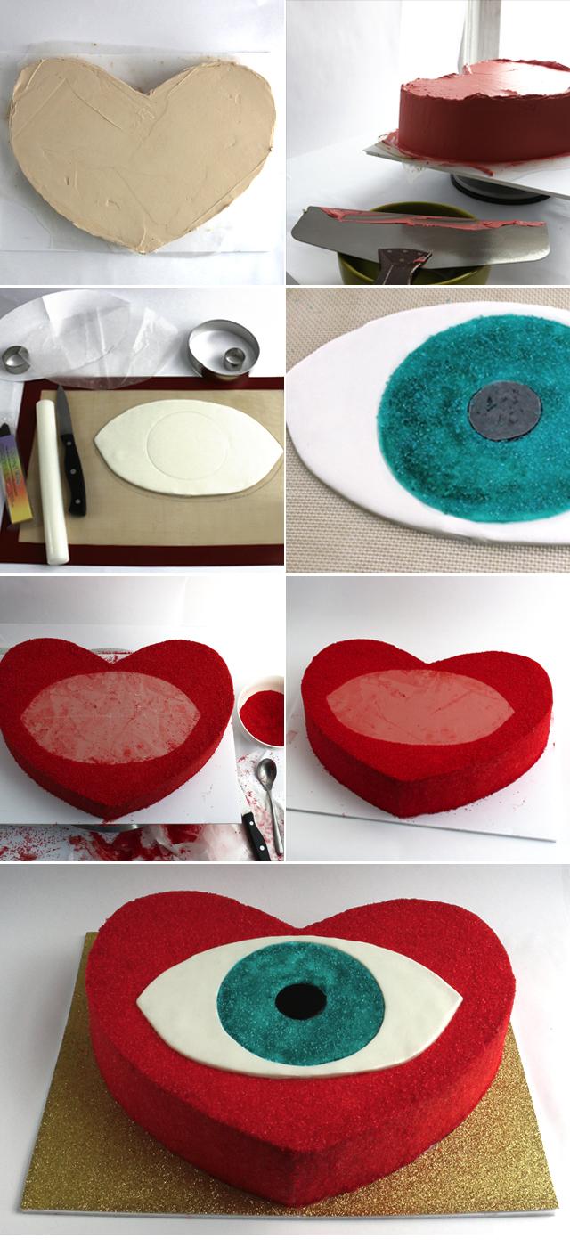 Evil Eye Heart DIY