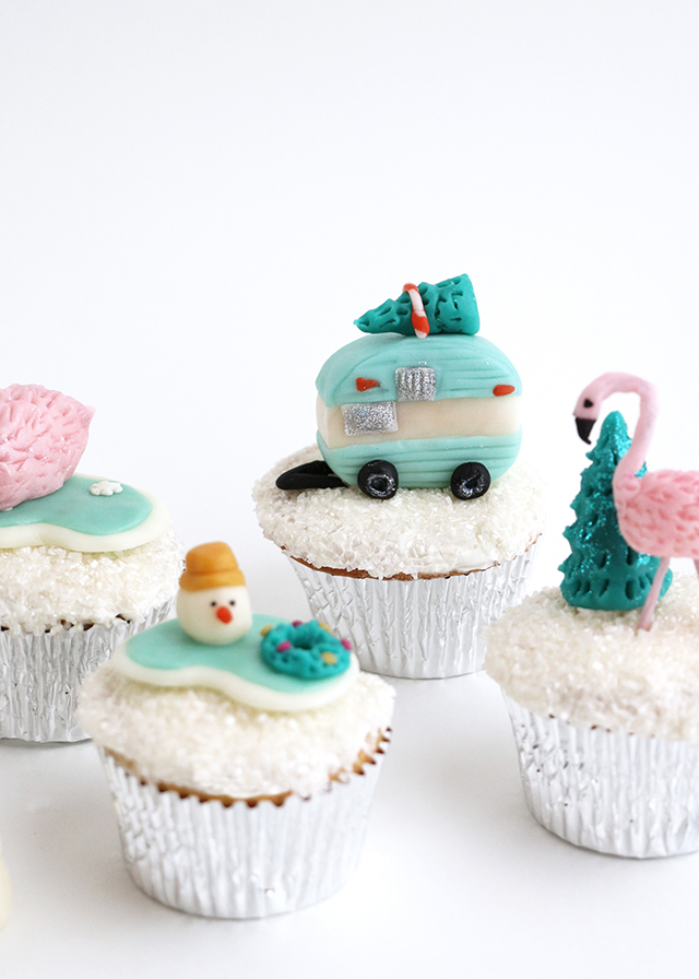 Tropical Holiday Cupcake Toppers