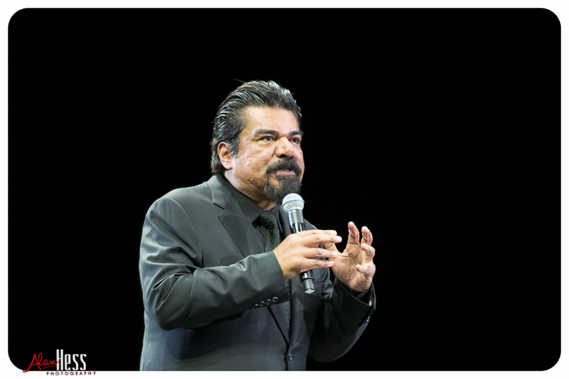 George Lopez performs during the Comedy Get Down Tour at the Valley View Casino Center on 1/30/2016 in San Diego, CA