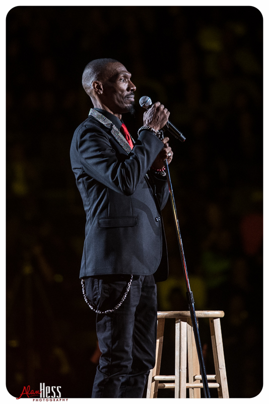 Charlie Murphy performs during the Comedy Get Down Tour at the Valley View Casino Center on 1/30/2016 in San Diego, CA