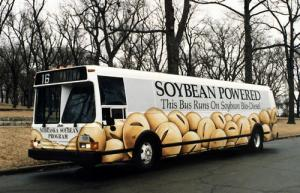 Soybeanbus1 300x193 Transportation's contribution to air pollution could be much, much less if …