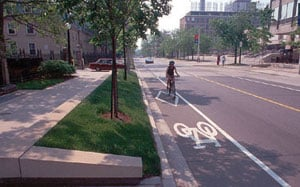 Bike diamond lane1 Transportation's contribution to air pollution could be much, much less if …