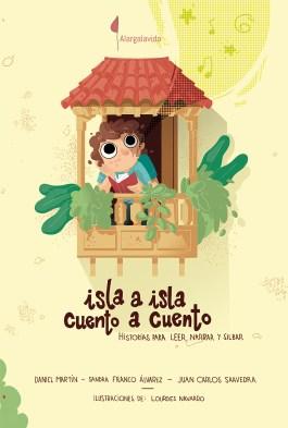 Portada de Isla a isla. Cuento a cuento. Historias para leer, narrar y silbar, ilustrado por Lourdes Navarro