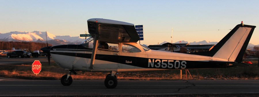 Rob Stapleton photo of a Cessna taxing up to a STOP sign at PALH
