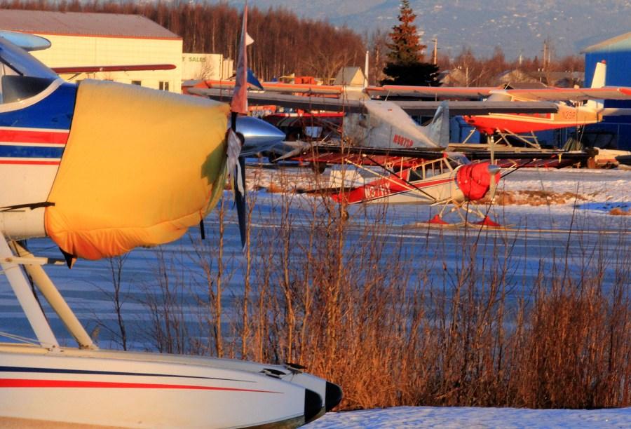 Floatplane and ski planes at PALH. Photo by Rob Stapleton