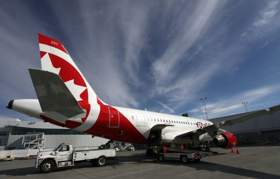 Canada Air tail at PANC. Photo by Rob Stapleton
