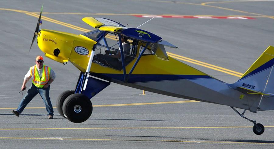 Yee Haw III performing a STOL takeoff