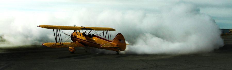Stearman Biplane at Merrill Field. PAMR