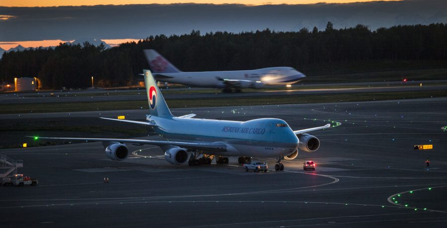 Boeing 747-800s on the move. Photo by Rob Stapleton/Alaskafoto