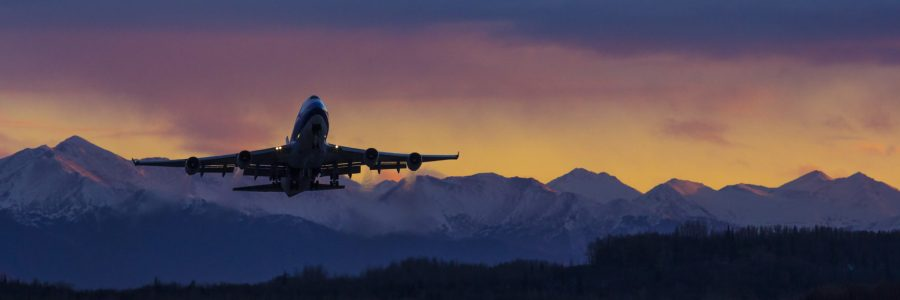 Boeing 747F takeoff at TSAIA