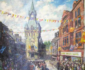 Gala Day 1972 by Ken Spowart - gifted to Dunfermline Museum