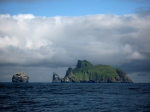 Stac Lee and Stac an Armin, with the Island of Boreray to the right