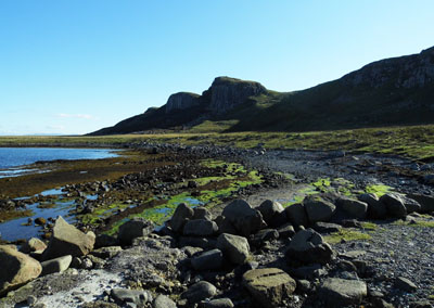 Staffin beach famous for Magladon fossils