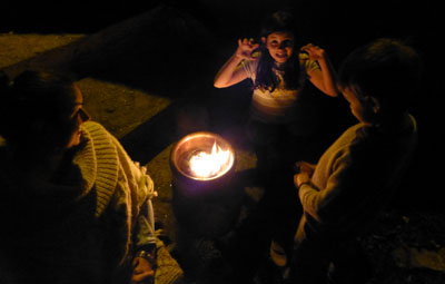 Spooky camp fire stories