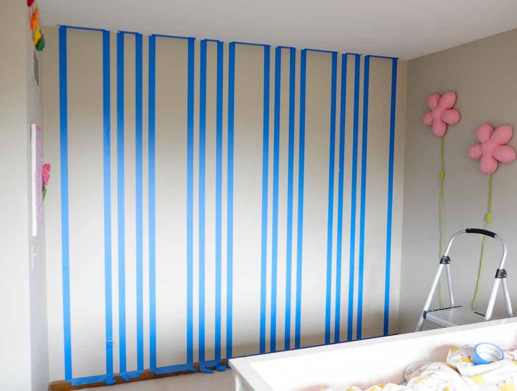 taped wall